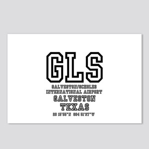 AIRPORT CODES - GLS - GAL Postcards (Package of 8)