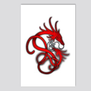 Norse Dragon - Red Postcards (Package of 8)
