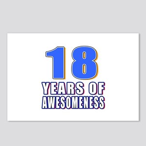 18 Years Of Awesomeness Postcards (Package of 8)