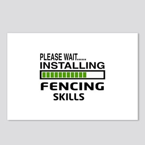 Please wait, Installing F Postcards (Package of 8)