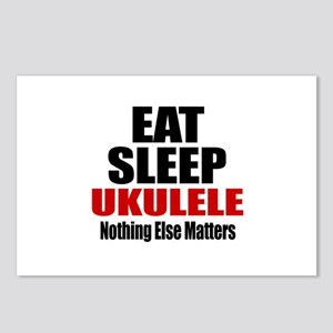 Eat Sleep Ukulele Postcards (Package of 8)