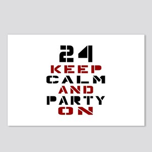 24 Keep Calm And Party On Postcards (Package of 8)