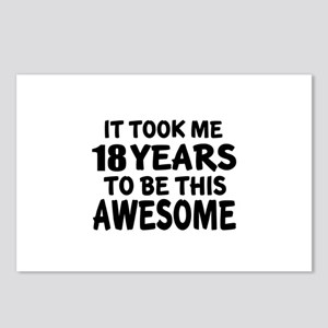18 Years To Be This Aweso Postcards (Package of 8)