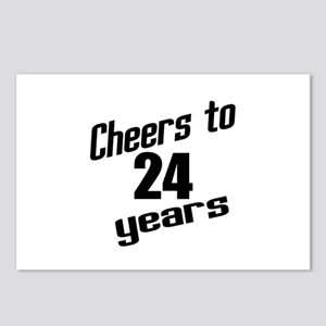 Cheers To 24 Years Birthd Postcards (Package of 8)