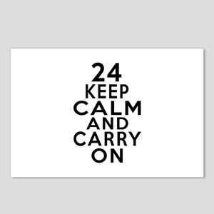 24 Keep Calm And Carry On Postcards (Package of 8)