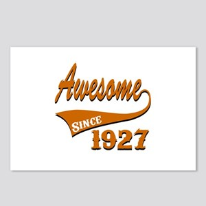 Awesome Since 1927 Birthd Postcards (Package of 8)