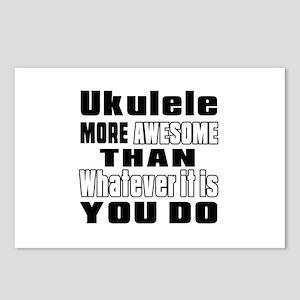 Ukulele More Awesome Postcards (Package of 8)