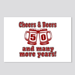 Cheers And Beers 50 And M Postcards (Package of 8)