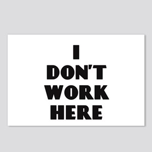 I Don't Work Here Postcards (Package of 8)