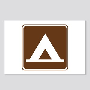 Camping Tent Sign Postcards (Package of 8)
