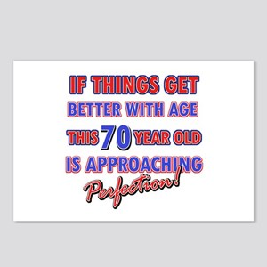 Funny 70th Birthdy designs Postcards (Package of 8