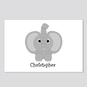 Personalized Elephant Design Postcards (Package of