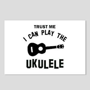 Cool Ukulele designs Postcards (Package of 8)