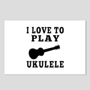 I Love Ukulele Postcards (Package of 8)