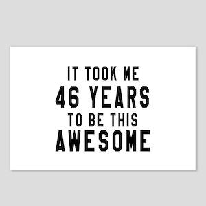 46 Years Birthday Designs Postcards (Package of 8)