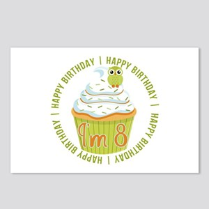 8th Birthday Cupcake Postcards (Package of 8)