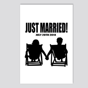 Just Married | Personalized wedding Postcards (Pac