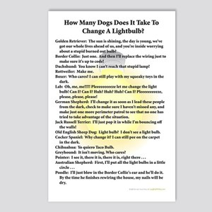 Dogs Change Lightbulb Postcards (Package of 8)