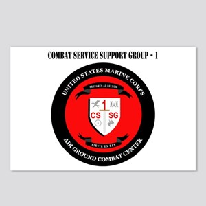Combat Service Support Group - 1 with Text Postcar