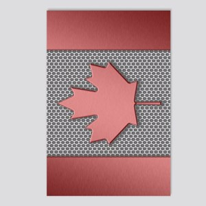 Canadian Flag Brushed Met Postcards (Package of 8)