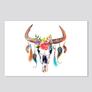 Colorful Bull Horns & Sku Postcards (Package of 8)