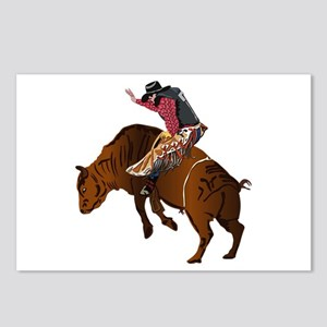 Cowboy - Bull Rider NO Te Postcards (Package of 8)