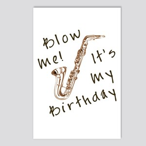 birthday horn blow me Postcards (Package of 8)
