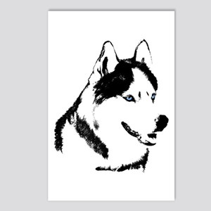 Siberian Husky Sled Dog Postcards (Package of 8)