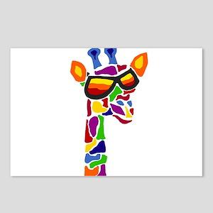 Giraffe in Sunglasses Postcards (Package of 8)