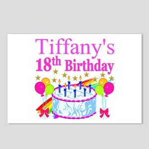 PERSONALIZED 18TH Postcards (Package of 8)