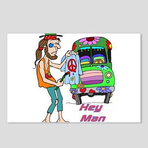 Hey Man- Hippie & Van Postcards (Package of 8)