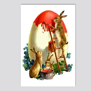 Easter rabbits painting Postcards (Package of 8)