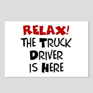 truck driver here Postcards (Package of 8)