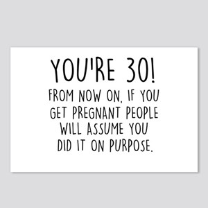 You're 30! Postcards (Package of 8)