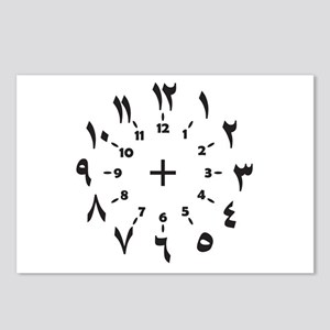 CLOCKFACE ARABIC NUMERALS Postcards (Package of 8)