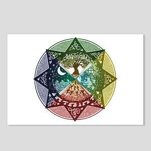 Elemental Mandala Postcards (Package of 8)