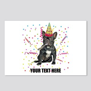 Custom French Bulldog Bir Postcards (Package of 8)