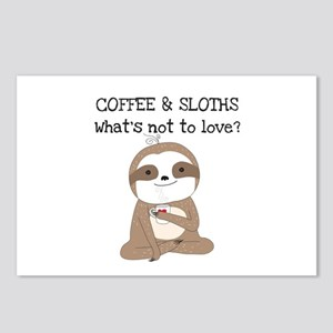 Coffee and Sloths Postcards (Package of 8)