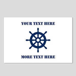 Custom Nautical Theme 8 Postcards (package Of 8)