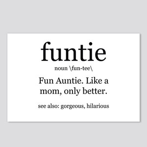 fun auntie definition Postcards (Package of 8)
