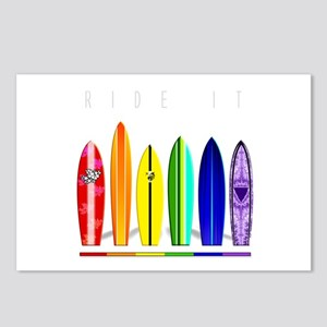 Rainbow Surf Postcards (Package of 8)