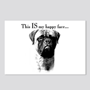 Bullmastiff Happy Face Postcards (Package of 8)