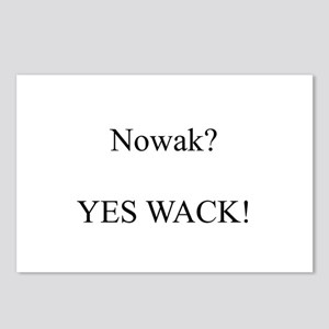 Nowak? YES WACK! Postcards (Package of 8)