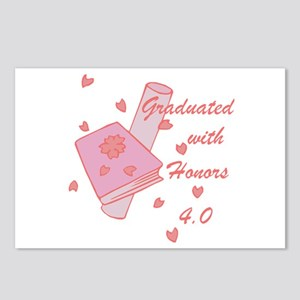 Graduated With Honors 4.0 Postcards (Package of 8)