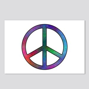 Multicolor Peace Sign Postcards (Package of 8)
