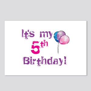 It's My 5th Birthday Postcards (Package of 8)