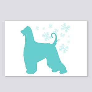 Afghan Hound Snowflake Postcards (Package of 8)