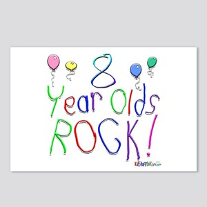 8 Year Olds Rock ! Postcards (Package of 8)