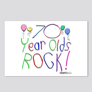 70 Year Olds Rock ! Postcards (Package of 8)