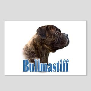Bullmastiff(brindle)Name Postcards (Package of 8)